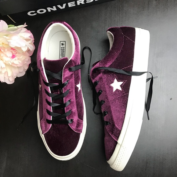 969777c4b1d0 💥New Converse One Star Ox velvet Dark sangria